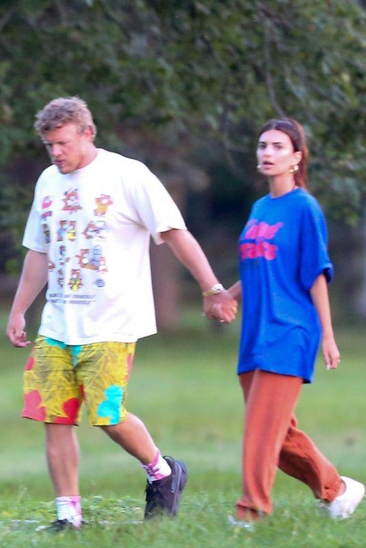 EMILY RATAJKOWSKI and Sebastian Bear McClard Out in The Hamptons 09/08/2020