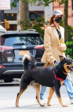 EMILY RATAJKOWSKI Out with Her Dog in New York 09/18/2020