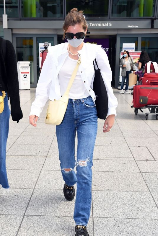 EMMA CORRIN in Ripped Denim Leaves Her Hotel in Venice 09/09/2020