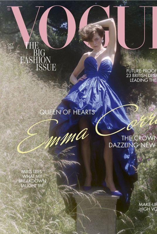 EMMA CORRIN in Vogue Magazine, UK October 2020