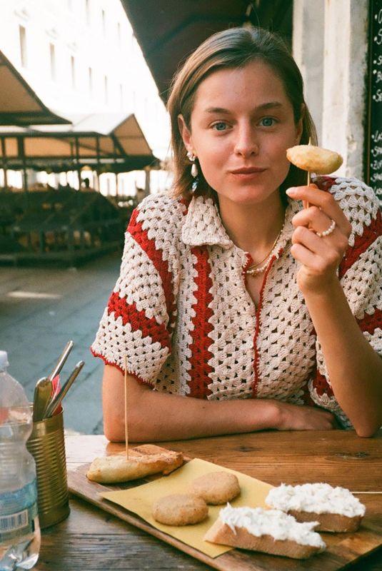 EMMA CORRIN Venice Film Festival Photo Diary for Vogue UK September 2020