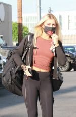 EMMA SLATER Arrives at DWTS Rehersal in Los Angeles 09/18/2020