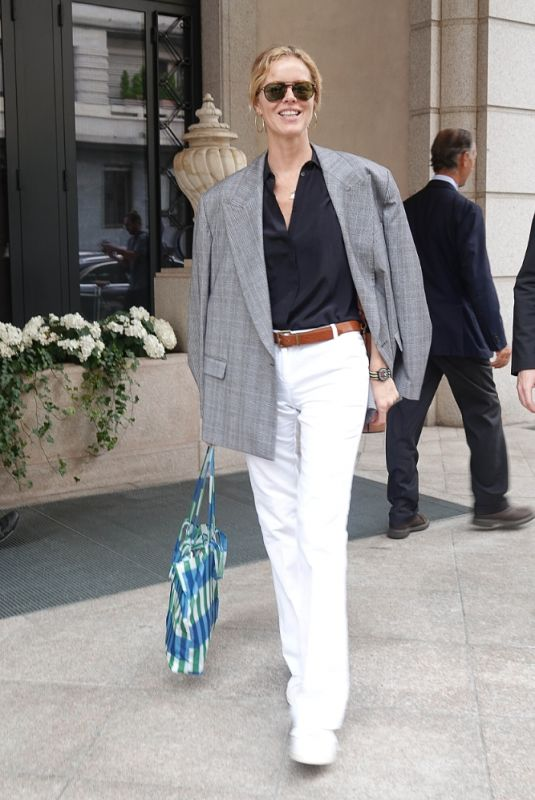 EVA HERZIGOVA Out at Milan Fashion Week 09/23/2020