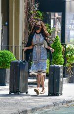 FAMKE JANSSEN Wearing a Mask Out in New York 09/18/2020
