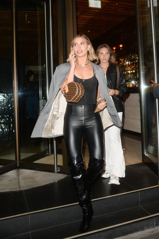 FERNE MCCANN and MEGAN MCKENNA Leaves Novikov Restaurant in London 09/17/2020