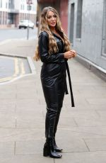 FRANKIE SIMS on the Set of TOWIE in Essex 09/21/2020