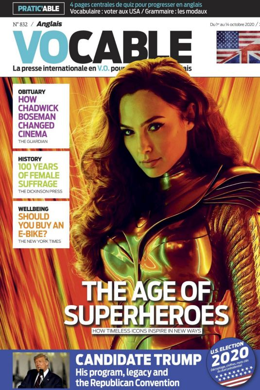 GAL GADOT in Vocable Anglais Magazine, October 2020