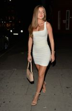 GEORGIA STEEL in a Tight Minidress Night out in Knightsbridge 09/09/2020
