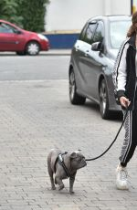 GEORGIA STEEL Out with Her Dog in Brentwood 09/14/2020