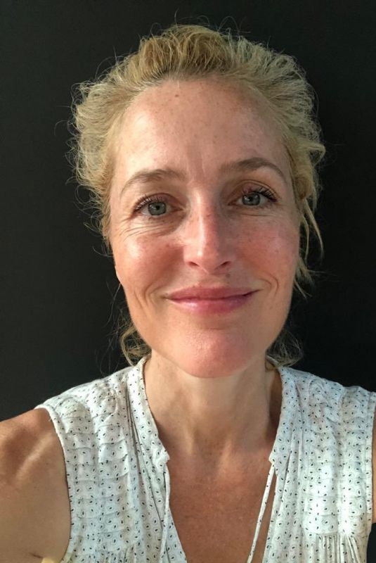 GILLIAN ANDERSON – 52th Birthday Selfies 09/08/2020