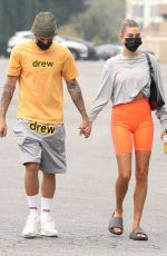 HAILEY and Justin BIEBER Heading to Pilates Class in Beverly Hills 09/12/2020