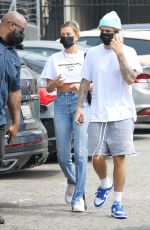 HAILEY and Justin BIEBER Out in Santa Monica 09/13/2020