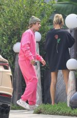 HAILEY and Justin BIEBER Visiting a Friend in West Hollywood 09/15/2020