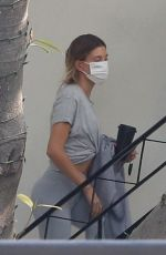 HAILEY BIEBER Arrives at Studio in Beverly Hills 09/18/2020