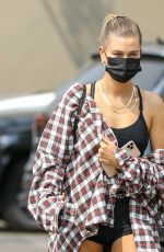 HAILEY BIEBER, KENDALL JENNER and JUSTINE SKYE Out for Lunch in West Hollywood 09/09/2020