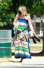 HILARY DUFF at a Local Park in Los Angels 09/04/2020