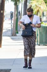 HILARY DUFF Out and About in Los Angeles 09/19/2020
