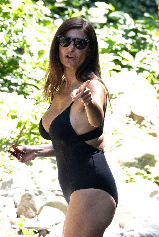 ILARIA D'AMICO in Swimsuit at a River in Treschietto 08/11/2020