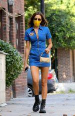 IRINA SHAYK in SHort Dress Out in New York 09/04/2020