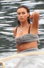 IRINA SHAYK on the Set of Vogue Germany Photoshoot in Lake Como 09/27/2020