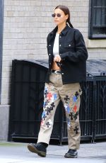 IRINA SHAYK Out and About in New York 09/18/2020