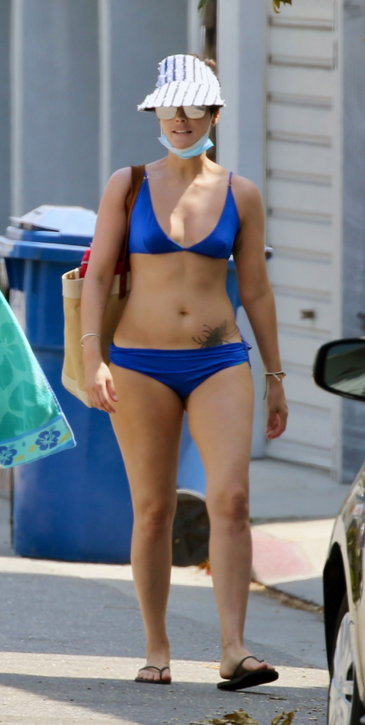 JAIMIE ALEXANDER in Bikini on the Beach in Malibu 08/30/2020 - HawtCelebs