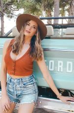 JENA SIMS in Denim Shorts - Instagram Photos 09/22/2020