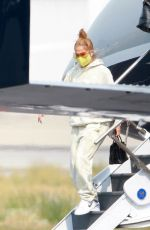 JENNIFER LOPEZ Leaves Her Private Jet in Los Angeles 09/09/2020