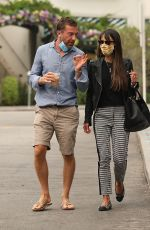 JORDANA BREWSTER and Mason Morfit Out Kissing in Brentwood 09/10/2020