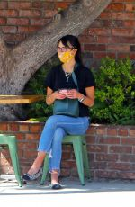JORDANA BREWSTER Out for Lunch at Palisades Garden Cafe 09/23/2020