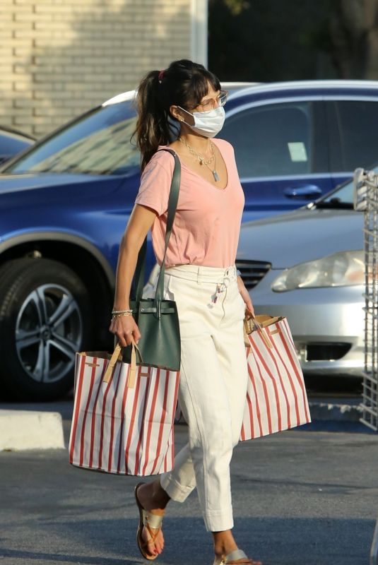 JORDNA BREWSTER Shopping at Grocery Store in Los Angeles 09/28/2020