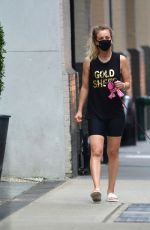 KALEY CUOCO Out with Her Dog in New York 09/15/2020