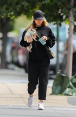 KALEY CUOCO Out with Her Dog in New York 09/16/2020