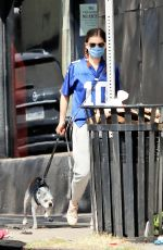 KATA MARA Out with Her Dog in Los Angeles 09/20/2020