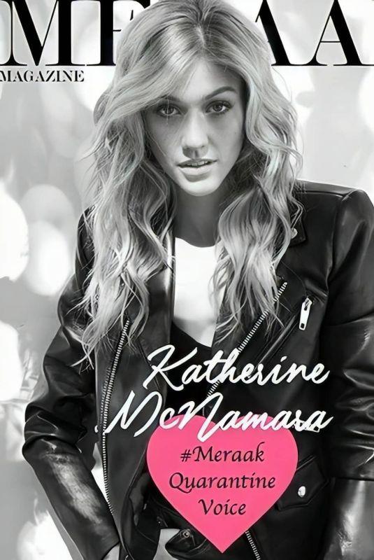 KATHERINE MCNAMARA on the Cover of Meraak Magazine, 2020