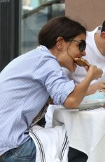 KATIE HOLMES and Emilio Vitolo Jr. Out for Lunch in New York 09/25/2020