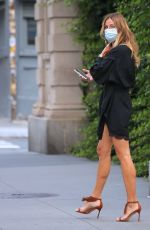 KELLY BENSIMON in a Short Black Dress Out in New York 09/14/2020