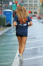 KELLY BENSIMON Out Jogging in New York 09/10/2020