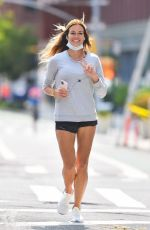 KELLY BENSIMON Out Jogging in New York 09/15/2020