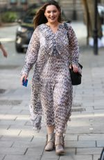 KELLY BROOK Arrives at Heart Radio in London 09/17/2020