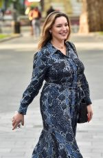 KELLY BROOK Arrives at Heart Radio Studios in London 09/11/2020