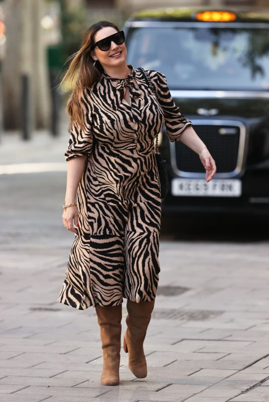 KELLY BROOK in a Tiger Print Dress Out in London 09/18/2020