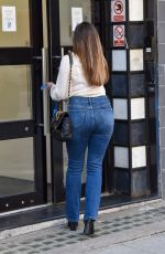 KELLY BROOK in Tight Jeans Arrives at Heart Radio in London 09/21/2020