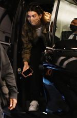 KENDALL JENNER and HAILEY BIEBER Arrives at Milan Fashion Week 09/25/2020