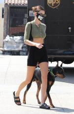 KENDALL JENNER in Tights Out with Her Dog in Malibu 09/23/2020