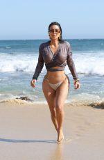 KIM KARDASHIAN in Bikini Bottom Out on the Beach in Malibu 09/09/2020