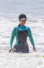 KOURTNEY KARDASHIAN in Wetsuit at Surf Lesson in Malibu 09/27/2020
