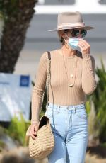 LAETICIA HALLYDAY in Denim Out and About in Malibu 09/24/2020