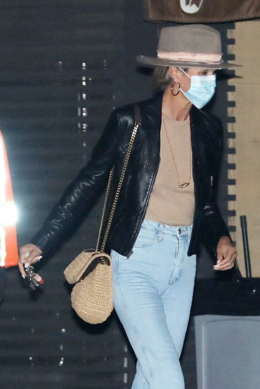 LAETICIA HALLYDAY Out for Dinner at Nobu in Malibu 09/24/2020