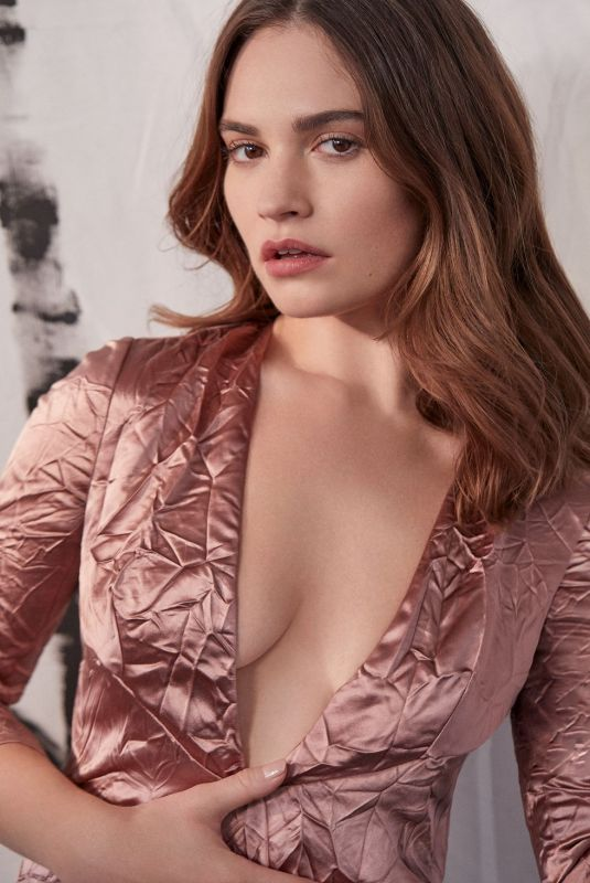 LILY JAMES for Harper's Bazaar Magazine, 2020
